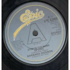 """BARBARA DICKSON Stop In The Name Of Love 7"""" VINYL UK Epic 1982 Promo B/W Find A"""
