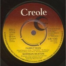 "NORMAN BEATON Family Man 7"" VINYL UK Creole 1976 B/W Skin (Cr130)"