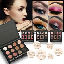 12 Colors Eye Shadow Makeup Cosmetic Shimmer Matte Eyeshadow Palette & Brush