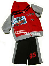 Cars Red Winter Hoody Jacket 2Pce Tracksuit Boys Set