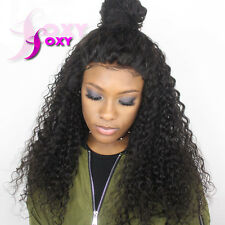 Loose Curly Full Lace Human Hair Wigs For Black Women Remy Curly Lace Front Wigs
