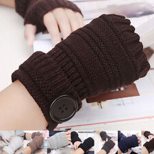 Wrist Arm Hand Warmer Mittens Fashion Men Women Knitted Fingerless Winter Gloves