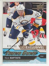 "16-17 UPPER DECK SERIES 2 YOUNG GUNS ROOKIE EXCLUSIVES ""NICK BAPTISTE"" #20/100"