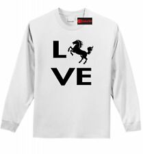 Love Horse Silhouette LS T Shirt Horse Lover Graphic Tee Country Gift Tee Z1
