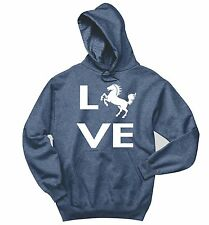 Love Horse Silhouette Sweatshirt Horse Lover Graphic Tee Country Gift Hoodie