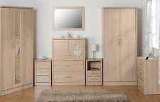 Lisbon Chest of Drawers/Wardrobe /Bedside/Dresser Light Oak Effect Veneer