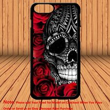 Sugar Skull Pretty Girly Floral Flower Rose Phone Case Cover for iPhone  Samsung
