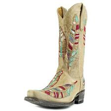 """Old Gringo Bejaruco 12"""" Women  Pointed Toe Leather Tan Mid Calf Boot"""