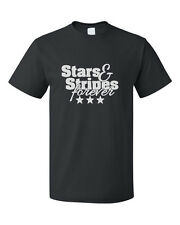 Stars & Stripes Forever Cotton Unisex T-Shirt Tee Top
