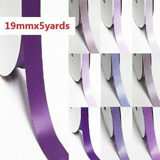 "5 Yards Single Sided YAMA High End Satin Ribbon 3/4"" /19mm for Lilac Purple"
