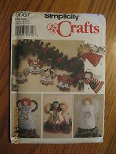 NEW/UNCUT-Simplicity CRAFTS #8687, ANGEL TreeTopper, Standing Angels - 22 Pieces