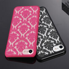 For Various iPhone Case Cover Damask Lace Ultra Thin Hard Back Skin Transparent