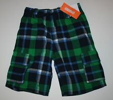 New Gymboree Outdoor Explorer Green Plaid Shorts Size 18-24M 2T 3T 5T 7 Yr NWT