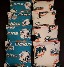 Vintage Miami Dolphins CORNHOLE BEAN BAGS 8 ACA Regulation Game Toss Bags