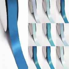 """3 Yards Double Sided 2-1/4"""" /57mm Discount Satin Ribbon Blue s #303 to #350"""