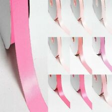 "5 Yards Double Sided 5/8"" /16mm Discount Satin Ribbon. Pink s"