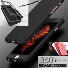 Luxury Ultra Thin Tempered Glass Acrylic Soft Case Cover For iPhone 7 6 6S Plus