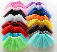 Classic 5 Layered Tulle Tutu Cheerleader Skirt Girl's Kids Ballet Dress Costume