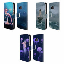 OFFICIAL RACHEL ANDERSON MERMAIDS LEATHER BOOK WALLET CASE FOR HTC PHONES 1
