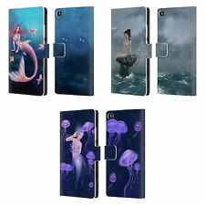 OFFICIAL RACHEL ANDERSON MERMAIDS LEATHER BOOK WALLET CASE FOR HUAWEI PHONES