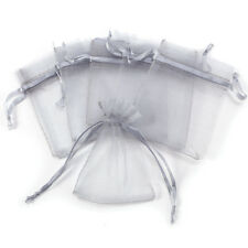 100x Brown Luxury Quality Organza Wedding Jewellery Gift Pouch Favour Bag 2 Size