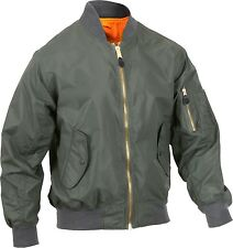 Sage Green Lightweight Air Force MA-1 Reversible Bomber Coat Flight Jacket