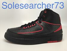 AIR JORDAN RETRO 2 GRADE SCHOOL KIDS 834276-001 BLACK/RED US GRADE SCHOOL KIDS