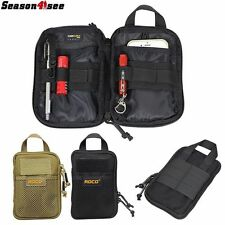 1000D Tactical Molle Utility Mobile Phone Pouch Waist Hand Tool Bag Tan/Black