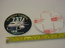 FlightSafety Boeing B-737 B737 Airlines aviation aircraft sticker NEW