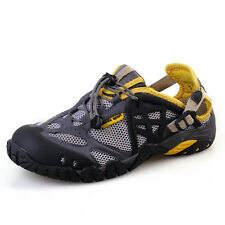 GOMNEAR Mens Fashion Outdoor Water Shoes Antiskid Casual Mesh Breathable Shoes