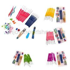 57pcs 16 Sizes Crochet Hooks Needles Stitches Knitting Craft Crochet Set in Case