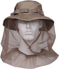 Khaki Military Tactical Boonie Hat With Full Mosquito Netting Protection