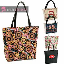 Ladies Large Tote Bag Tribal Panel Hippy Purse Beach Bag Summer Canvas Boho