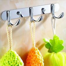 Metal Bathroom Bedroom Kitchen Wall Mounted Bag Hanger Coat Hat Robe Hook Rack