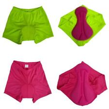 Women's Breathable 3D Padded Pants Cycling Bike Bicycle Underwear Shorts Pink