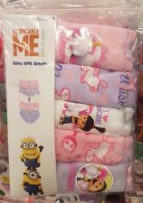 Despicable Me Minion Girls 5 PK Cotton Briefs Knickers Panties Ages 2-13 Yrs