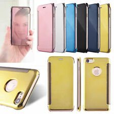 Ultra Thin Mirror Smart Clear Transparent View Flip Case For iPhone 6 6s 7 7Plus
