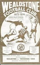 CHAMPIONSHIP Wealdstone FC Home Programmes 1973-74 Southern Lge, FA Cup & Trophy