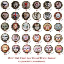 Skull Pattern Knobs Wardrobe Cabinet Door Cupboard Drawer Furniture Pull Handles