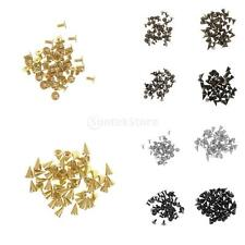 50 Sets Alloy Screwback Cone Spikes Studs DIY Craft Rivets 1cm Length