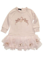 Kate Mack by Biscotti Royal Shimmer Tiara Jersey Knit and Tulle Baby Girls Dress