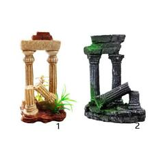 Ancient Collapsed Roman Stone Pillar for Aquarium Fish Tank Background Decor