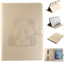 Cute Panda PU Leather Flip Card Slot Magnetic Closure Stand Case For iPad Tablet