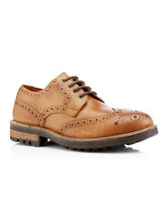 Red Tape Bracken Tan Leather Mens Classic Brogues Formal Smart Shoes Lace Up UK