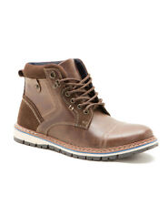 RED TAPE BISHAM TAN MENS LEATHER LACE UP BOOTS UK 7-11