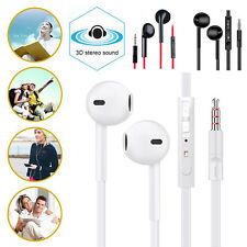 3.5mm Wired Earphone Bass Stereo Earbuds Anti-wrap Headset Mic for Smartphone PC