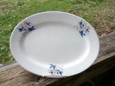 "Vintage Francis Thompson Bluebird China Serving Platter - 11-1/2"" x 8-5/8"""