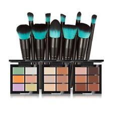 Pro 6 Colors Concealer Cream Palette Kit +10 Powder Blush Makeup Brushes Set