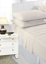 New 100% Egyptian Combed Cotton Sateen TC400 Luxury Soft Fitted Bed Sheet