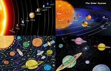 Childrens - Kids Solar System Learning Poster A4 Laminated (Variety Choice)